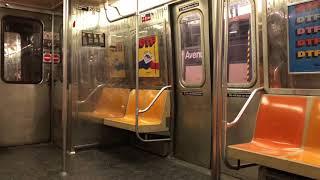 NYC Subway: Riding R68 D Train via F Line (Coney Island - Church Ave