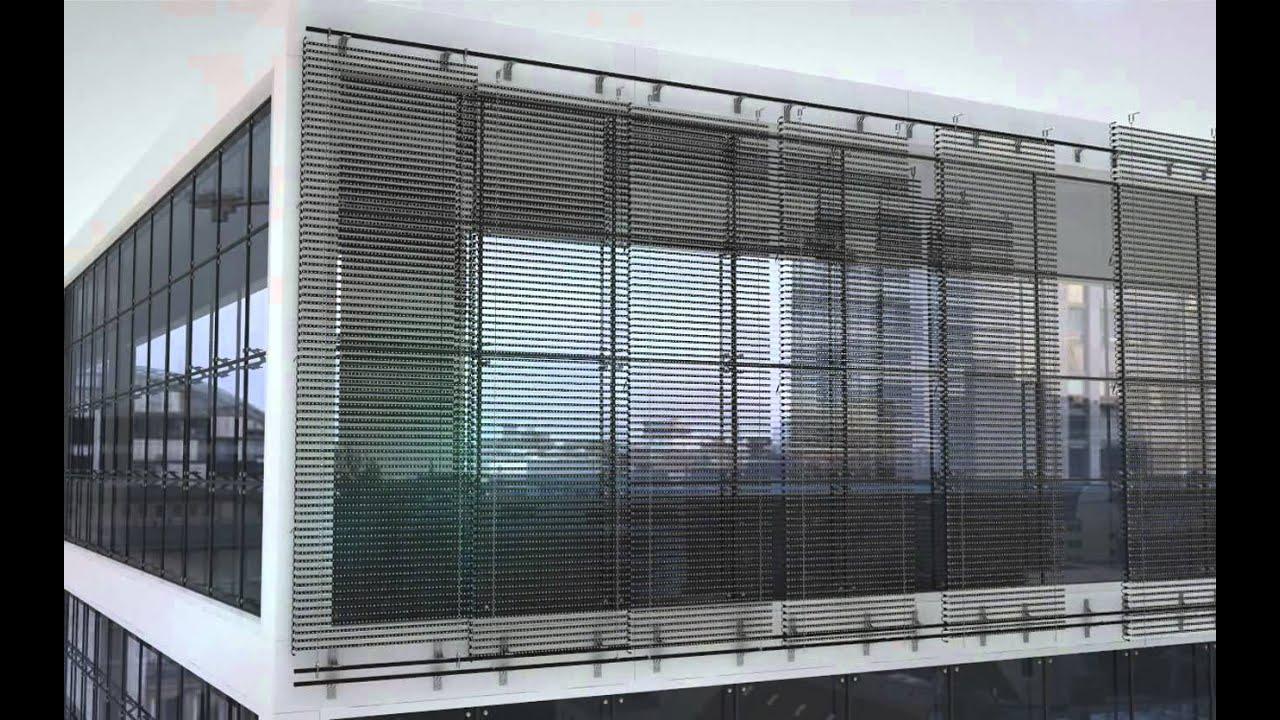 LED E matrix Louver Screen Installation  YouTube