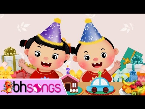 Happy Birthday Song Chinese | 生日快乐 | Song For Kids  [Vocal 4K]