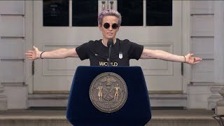 'We have to love more, hate less:' Meghan Rapinoe's full World Cup parade speech