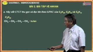 Bài giảng môn hóa lớp 11 - Chương. Hidrocacbon no - Bài 2. Bài tập Ankan