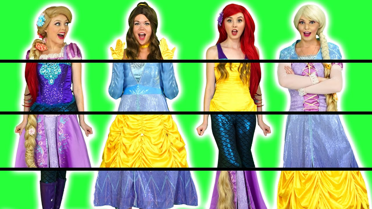 Download PRINCESS CLOTHES SWAP WITH ARIEL, ELSA, BELLE AND RAPUNZEL CLOTHING SWITCH UP. Totally TV.
