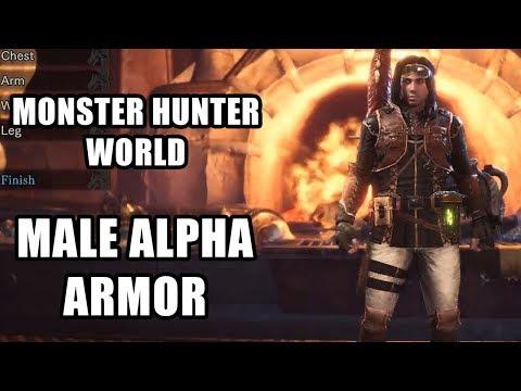 Monster Hunter World : Male Alpha Armor
