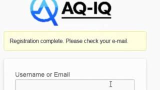 AQ-IQ Hesap Oluştur Öğretici