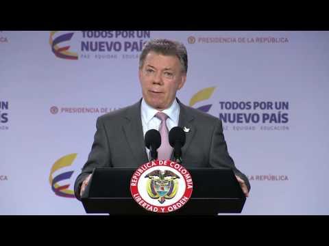 Declaración del Presidente Juan Manuel Santos