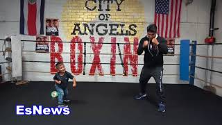 Must See Mikey Garcia Baby Landing Moster Shots! EsNews Boxing