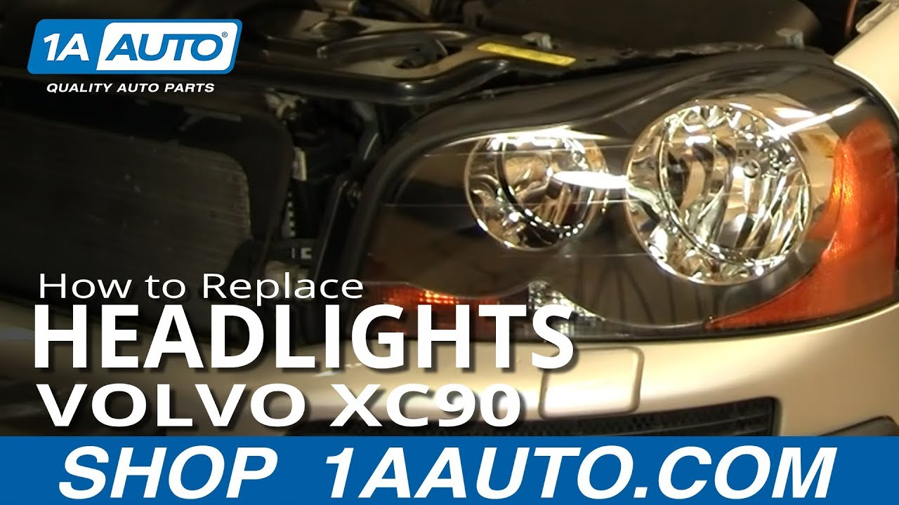 How To Replace Headlight and Bulb 03-12 Volvo XC90