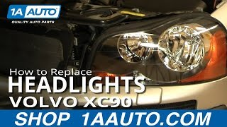 How To Install Replace Headlight and Bulb Volvo XC90 03-12 1AAuto.com