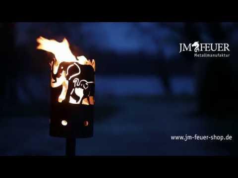 Jm Feuer Shop gartenfackel elefant aus metall