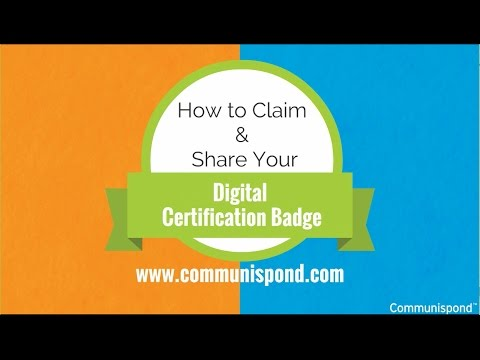 How to Claim Your Digital Certification Badge - YouTube