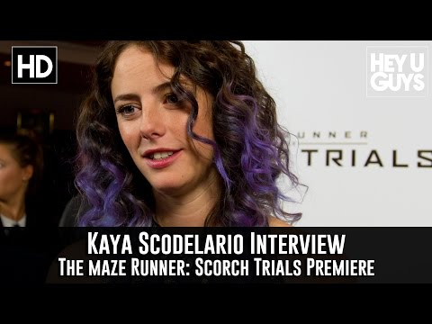 Kaya Scodelario Interview - The Maze Runner: Scorch Trials Premiere