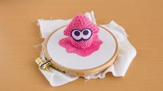 編み物と刺繍を融合.