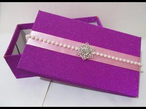 DIY #242 | Beautiful Gift Box | Made From Shoe Box ❤