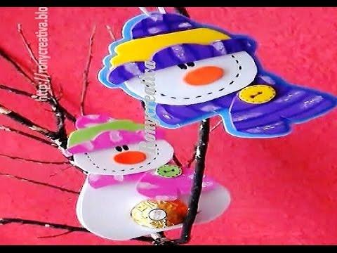 NAVIDAD MUÑECOS DE NIEVE -TRES SUPER IDEAS / FOAMY SNOWMAN DIY ...