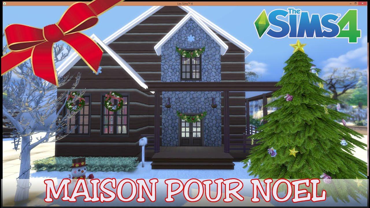 Les sims 4 construction d 39 une maison pour no l youtube for Maison prefabriquee sims 4