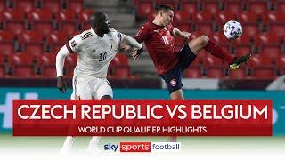 Lukaku rescues point for Belgium! | Czech Republic vs Belgium | World Cup Qualifier Highlights