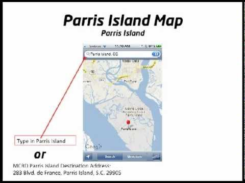 Parris Island Map YouTube - Parris map