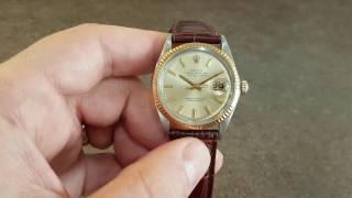 1966 rolex datejust 1601 men s vintage watch