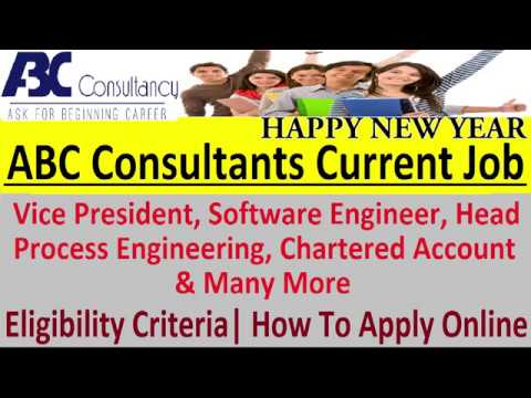 ABC Consultants Current Job 2019 Apply Online @ abcconsultants in