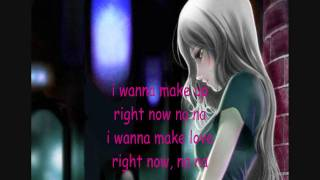 Right now (female version) with lyrics..