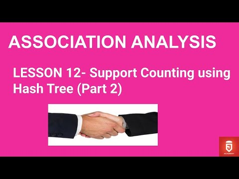 Lesson 12- Support Counting Using Hash Tree (Part 2)   JAcademy