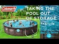 Taking the pool out of storage: REAL LIFE