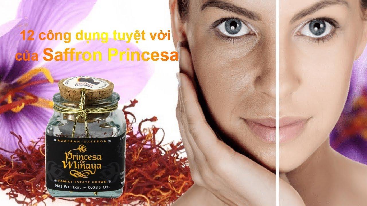 12 Công dụng và cách dùng Nhụy hoa nghệ tây Saffron Princesa
