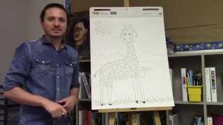 How to draw a giraffe for kids with Ramon Carrasco