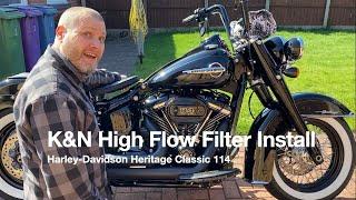 K&N High Flow Filter Install On Harley-Davidson Heritage Classic 114