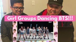 [Kpop] Girl Groups Dancing to BTS (Fire, I Need U, Danger, War of Hormones) BROTHERS REACTION!!!