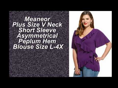 Meaneor Ruffled plus sized top Various colors