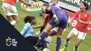 Christiane Endler vivió día de furia con delantera uruguaya | Chile - Uruguay (3-0)