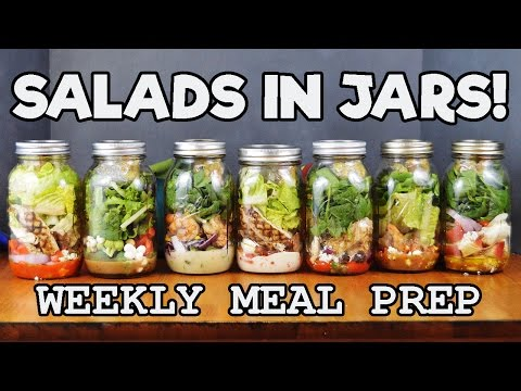Salads in Jars | WEEKLY MEAL PREP | The Starving Chef