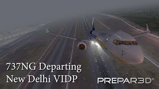 Jet Airways 737NG departing Imaginesim New Delhi VIDP in Prepar3D V4!