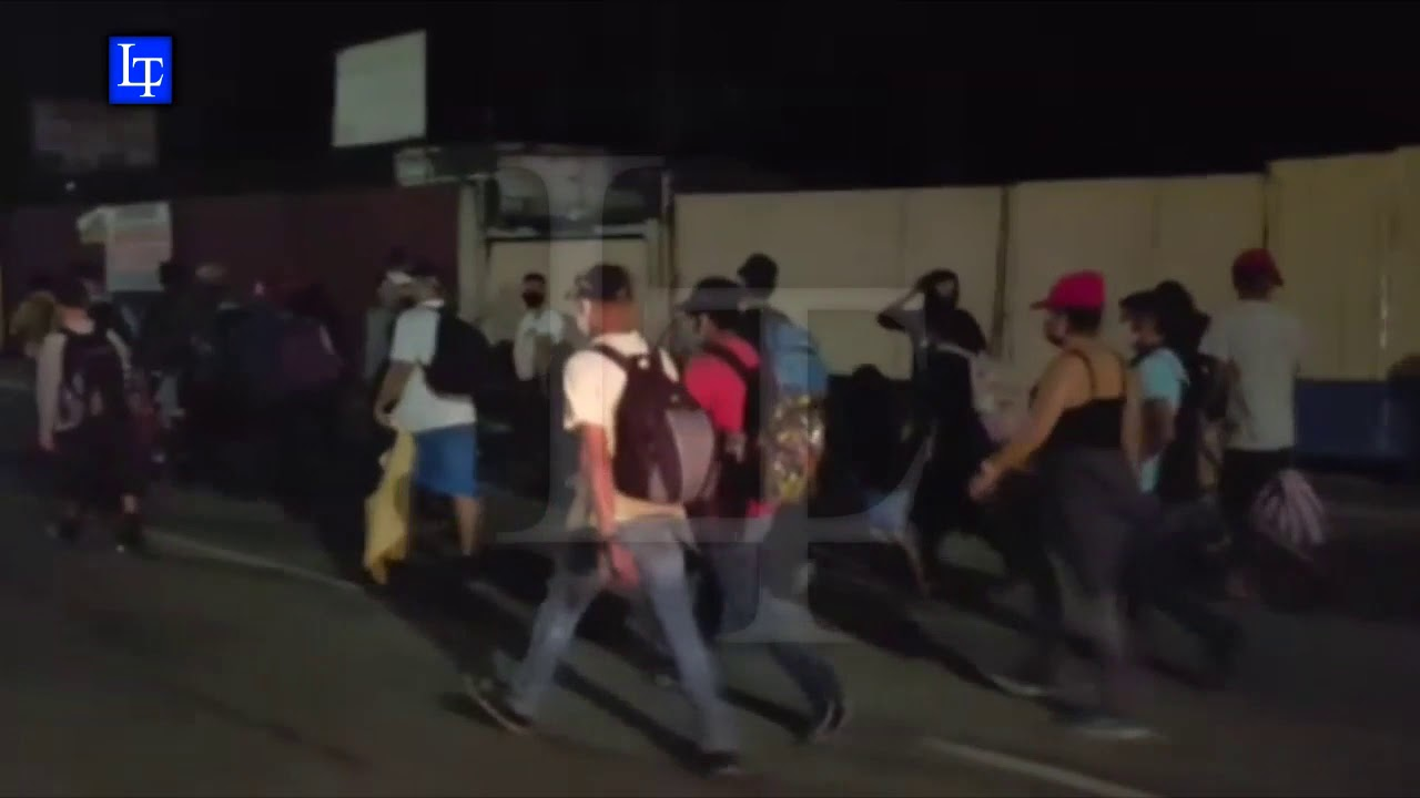 Nueva caravana de migrantes sale de San Pedro Sula