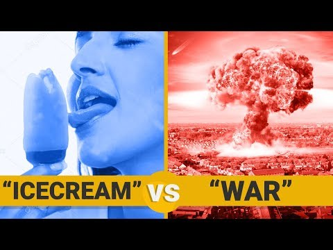 ICE CREAM VS WAR - Google Trends Show