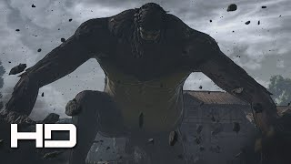 ATTACK ON TITAN (PS4) Ape Beast Titan Boss Full Fight - Walkthrough Gameplay Cutscene