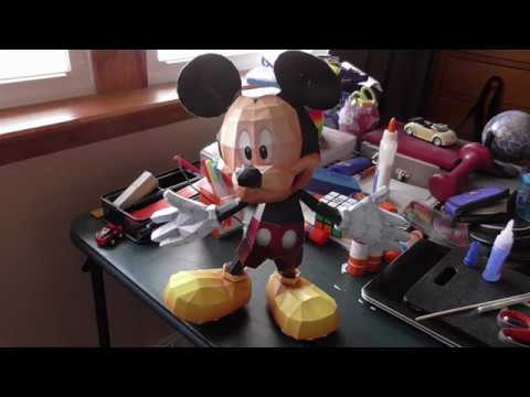 Papercraft Mickey Mouse Youtube