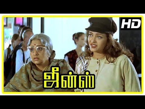 Jeans Movie Scenes   Aishwarya Rai intro   Lakshmi wants to go out of hospital   Prashanth