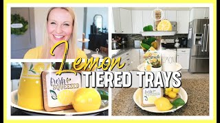 SUMMER TIERED TRAY DECOR! | LEMON TIERED TRAY DECOR IDEAS 2020