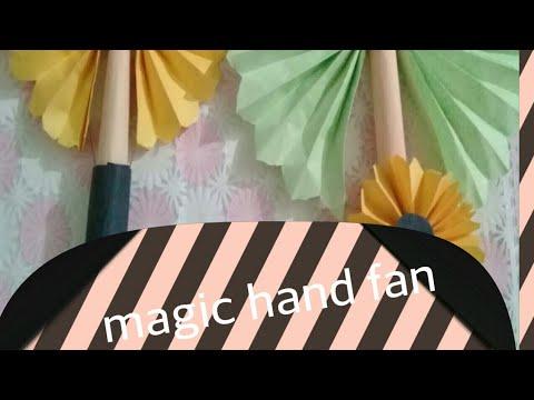 Magic paper fan/Magic hand fan / How to make magic fan  / turtorial  #4