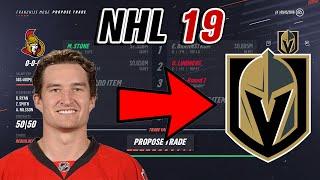 Mark Stone to Vegas!! - NHL 19 Trade Simulation
