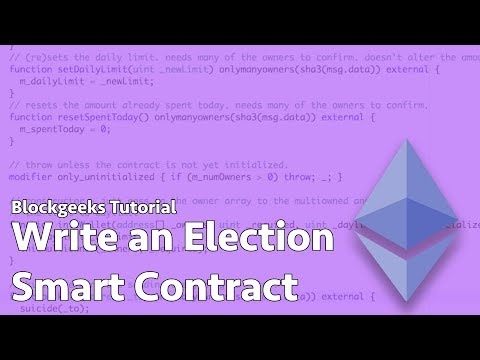 How to Write an Ethereum Election Smart Contract