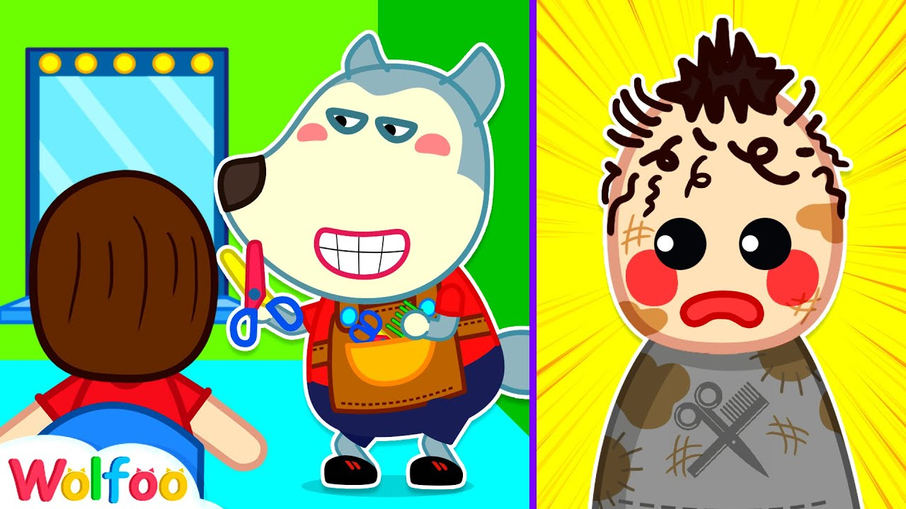 Download Wolfoo Pretend Play Haircut - Baby's First Haircut - Wolfoo Playing Professions #6   Wolfoo Channel