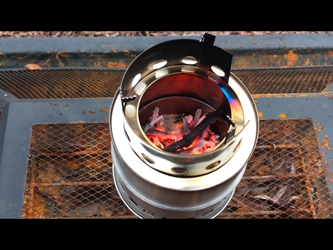 Portable, stainless steel, camping, backpacking, wood burning cooking stove by Sam Young review