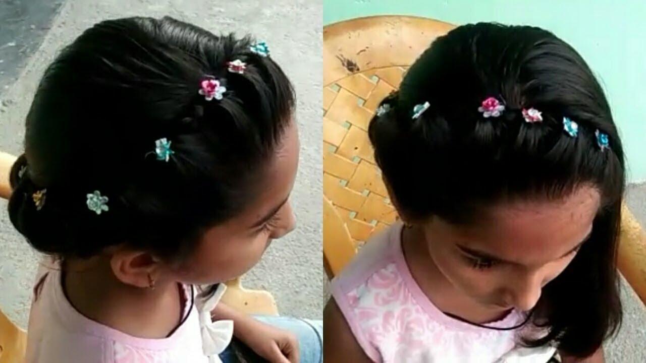 Penteado infantil with new style.# छोटे बालों में खूबसूरत स्टाइल