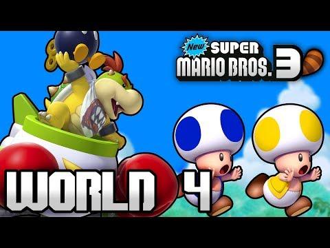 New Super Mario Bros. 3+ Part 4 - World 4 (4 Player)