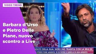 Barbara D'urso E Pietro Delle Piane, Nuovo Scontro A Live