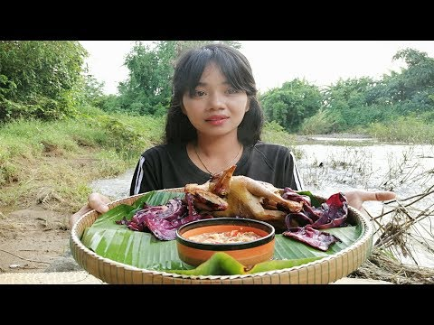 Cook Chicken With Cabbage Along The River Near My Home In Cooking Asian Food TS