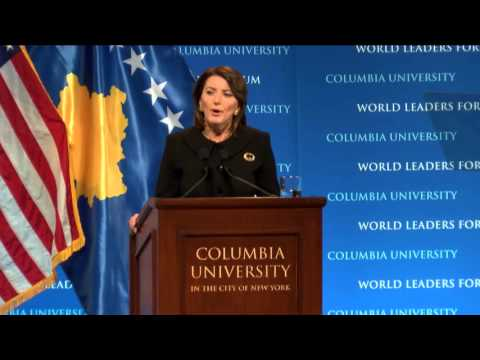 President Atifete Jahjaga, of the Republic of Kosovo - Colum
